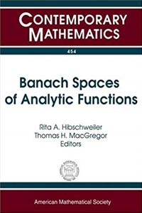 Download Banach Spaces of Analytic Functions (Contemporary Mathematics) epub book